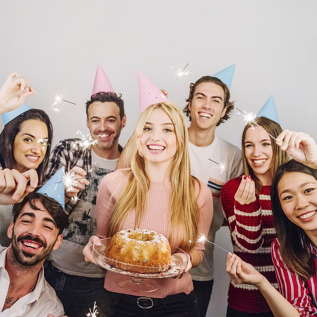 誕生日をみんなでお祝い